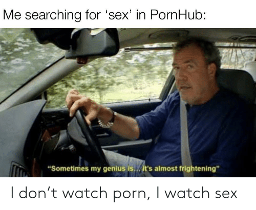 Porn: I don't watch porn, I watch sex