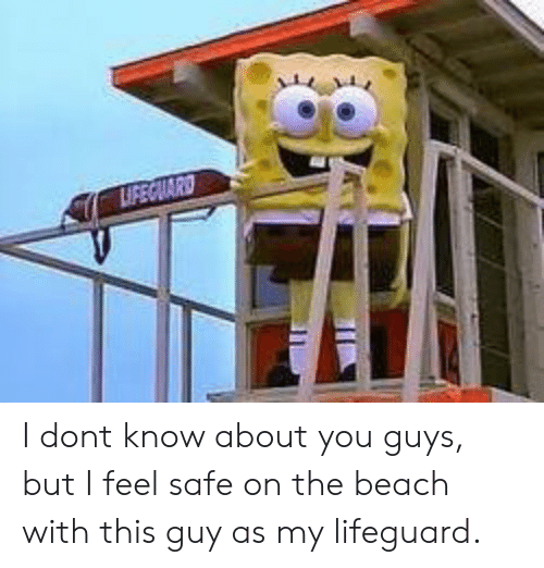 Lifeguarding: I dont know about you guys, but I feel safe on the beach with this guy as my lifeguard.