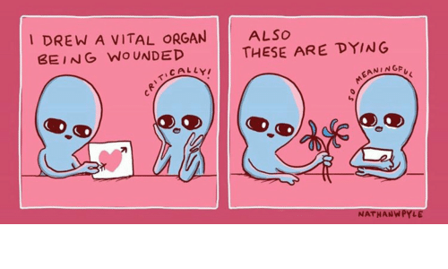 organ: I DREW A VITAL ORGAN  BEING WOUNDED  ALSO  THESE ARE DYING  EANINGA  刁  NATHANWPYLE