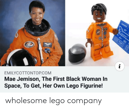 Lego, Black, and Space: i  EMILYCOTTONTOP.COM  Mae Jemison, The First Black Woman In  Space, To Get, Her Own Lego Figurine! wholesome lego company