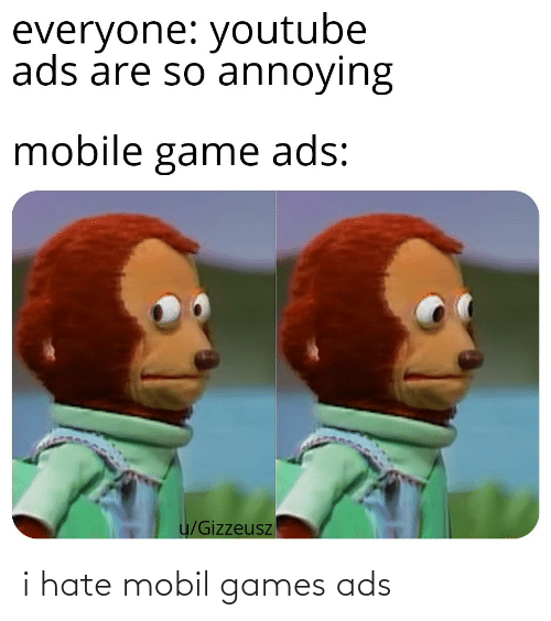 Mobil: i hate mobil games ads