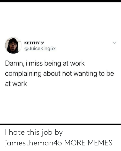 i hate: I hate this job by jamestheman45 MORE MEMES