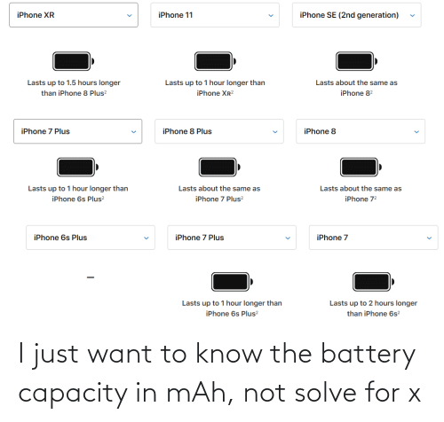Battery, Mah, and For: I just want to know the battery capacity in mAh, not solve for x