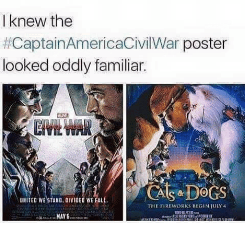 United We Stand: I knew thee  #CaptainAmericaCivilWar poster  looked oddly familiar.  UNITED WE STAND. DIVIDED WE FALL  THE FIREWORKS REGIN ULY 4