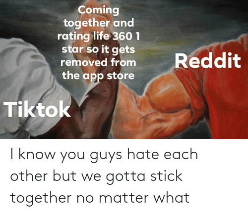 Stick Together: I know you guys hate each other but we gotta stick together no matter what
