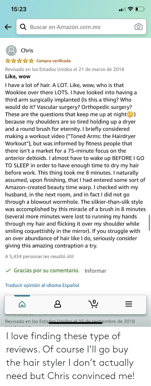 Reviews: I love finding these type of reviews. Of course I'll go buy the hair styler I don't actually need but Chris convinced me!
