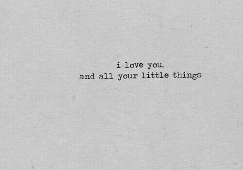 Your Little: i love you,  and all your little things
