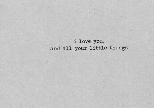 little things: i love you,  and all your little things