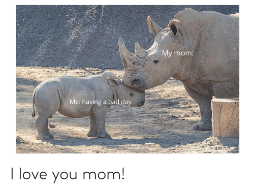 Love, I Love You, and Mom: I love you mom!