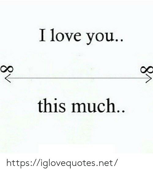 Love, I Love You, and Net: I love you..  this much..  8V https://iglovequotes.net/
