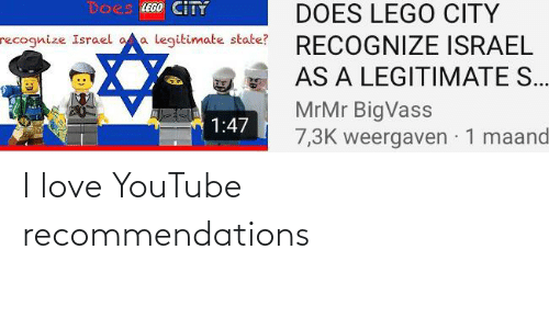 recommendations: I love YouTube recommendations