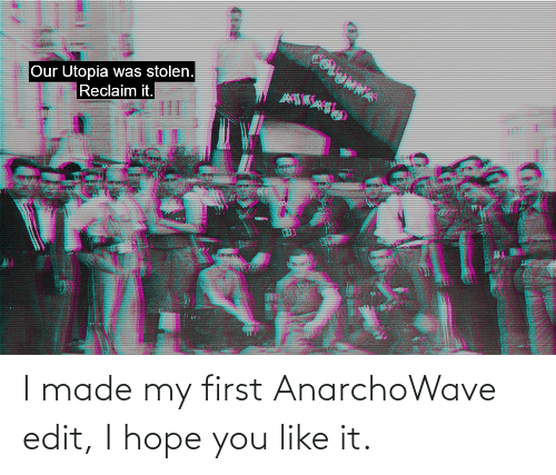 Made My: I made my first AnarchoWave edit, I hope you like it.