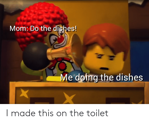 On The Toilet: I made this on the toilet