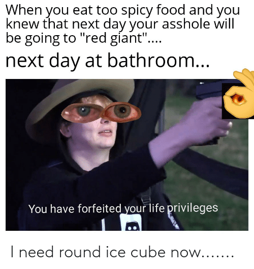 Funny, Ice Cube, and Ice: I need round ice cube now.......