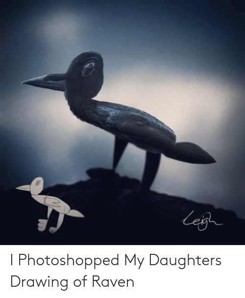 photoshopped: I Photoshopped My Daughters Drawing of Raven