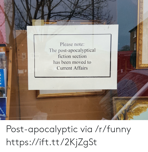 Funny, Fiction, and Been: .i  Please note:  The post-apocalyptical  fiction section  has been moved to  Current Affairs Post-apocalyptic via /r/funny https://ift.tt/2KjZgSt