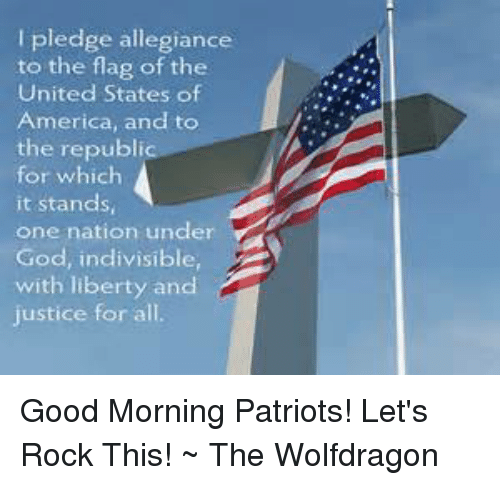 my way to pledge allegiance to the flag of the united states I pledge allegiance, to the flag, of the united states of america and to the republic, for which it stands  the way we were taughti pledge allegiance.