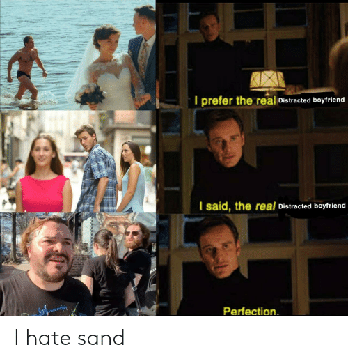 The Real, Boyfriend, and Real: I prefer the real Distracted boyfriend  I said, the real Distracted boyfriend  Perfection I hate sand