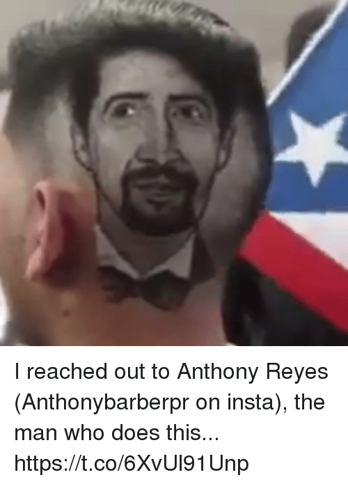 reyes: I reached out to Anthony Reyes (Anthonybarberpr on insta), the man who does this... https://t.co/6XvUl91Unp