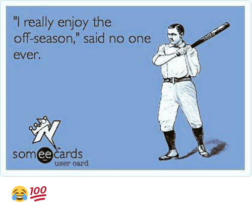 """Someecards: I really enjoy the  off-season,"""" said no one  ever  someecards  ее  user card 😂💯"""