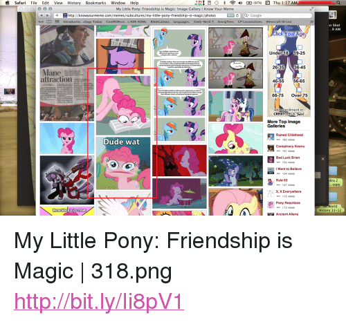 """x x everywhere: i Safari File Edit View History Bookmarks Window Help  My Little Pony: Friendship is Magic: Image Gallery 