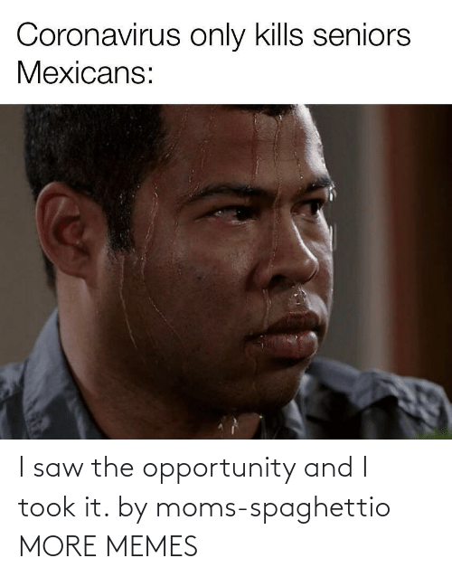 Opportunity: I saw the opportunity and I took it. by moms-spaghettio MORE MEMES