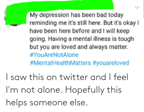 Helps: I saw this on twitter and I feel I'm not alone. Hopefully this helps someone else.
