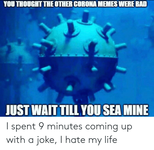 my life: I spent 9 minutes coming up with a joke, I hate my life