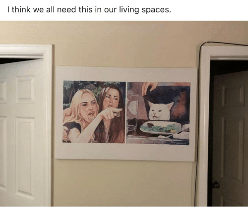 spaces: I think we all need this in our living spaces.