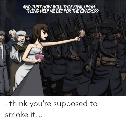 Supposed: I think you're supposed to smoke it...