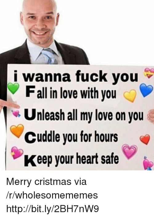 all my love: i wanna fuck you  Fall in love with you  Unleash all my love on you  Cuddle you for hours  Keep your heart safe Merry cristmas via /r/wholesomememes http://bit.ly/2BH7nW9