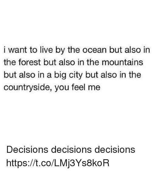 i would like to live by the mountains