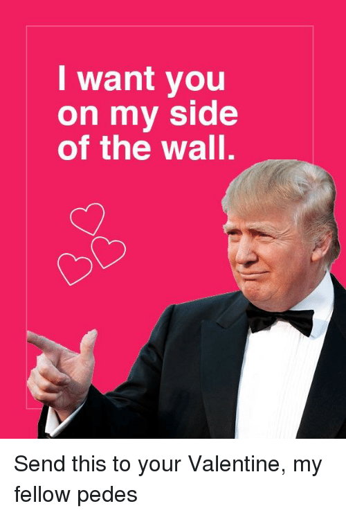 The Wall, Valentine, and You: I want you  on my side  of the wall.