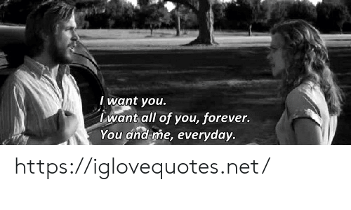 And Me: I want you.  want all of you, forever.  You and me, everyday. https://iglovequotes.net/