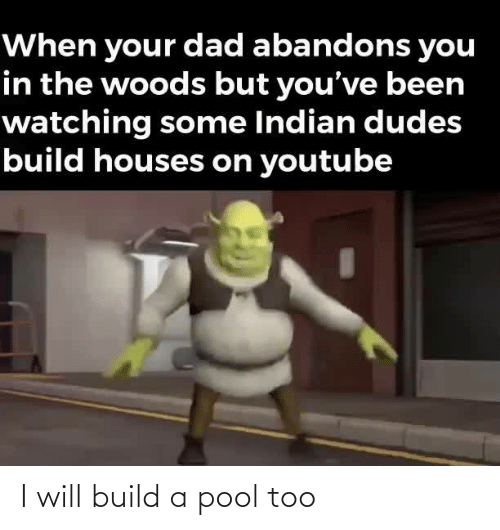 Pool: I will build a pool too