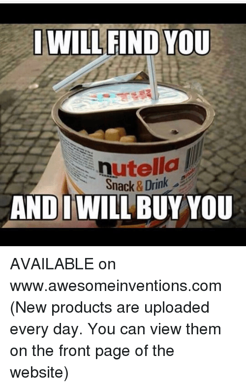 Nutella Snack Drink