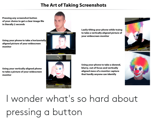 Pressing A Button: I wonder what's so hard about pressing a button