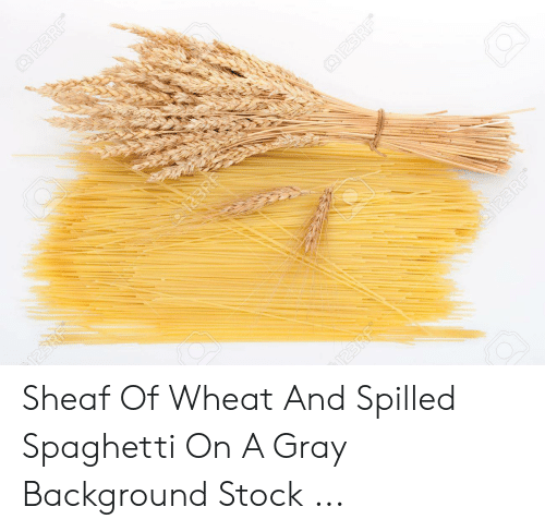 Sheaf: @I23RF  Q123 RF  J23R  123RF  JUE2I Sheaf Of Wheat And Spilled Spaghetti On A Gray Background Stock ...