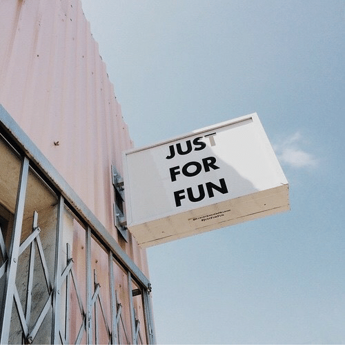 Fun, For, and Just: ic  JUST  FOR  FUN