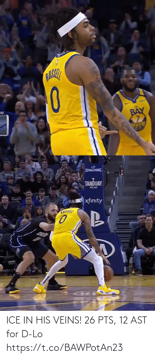 ice: ICE IN HIS VEINS!   26 PTS, 12 AST for D-Lo  https://t.co/BAWPotAn23
