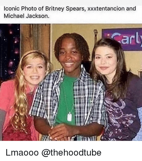 Britney Spears, Memes, and Michael Jackson: Iconic Photo of Britney Spears, xxxtentancion and  Michael Jackson Lmaooo @thehoodtube