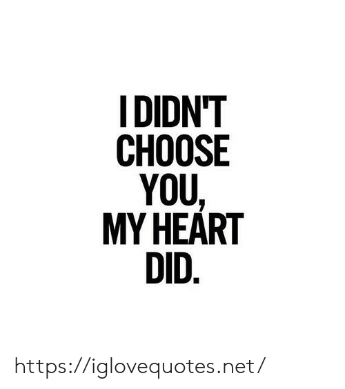 Heart, Net, and Did: IDIDN'T  CHOOSE  YOU,  MY HEART  DID. https://iglovequotes.net/