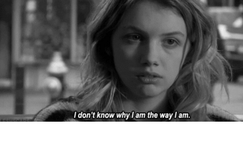 Know, The, and Idont: Idon't know whyl am the wayl am.