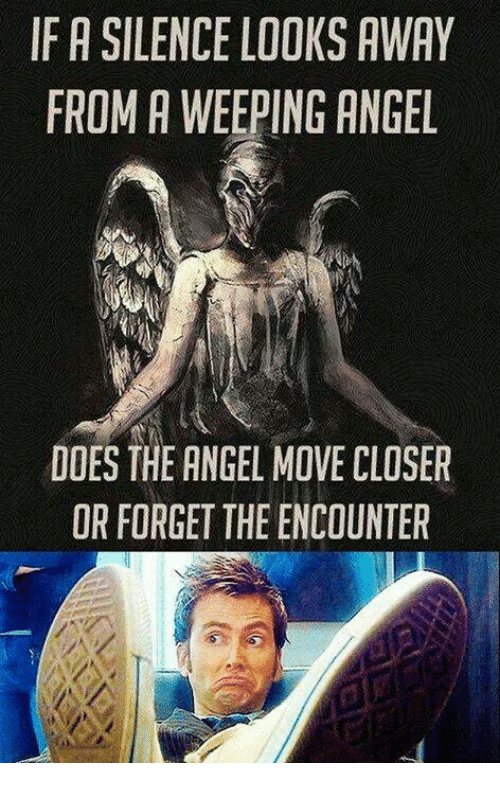 The Encounter: IF A SILENCE LOOKS AWAY  FROM A WEEPING ANGEL  DOES THE ANGEL MOVE CLOSER  OR FORGET THE ENCOUNTER