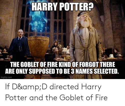 Harry Potter: If D&D directed Harry Potter and the Goblet of Fire