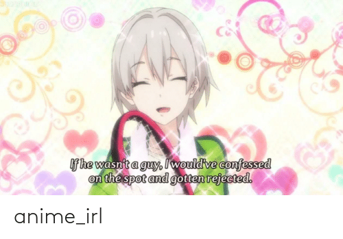 If He: If he wasnit a guy, I would've confessed  on the spot and gotten rejected. anime_irl