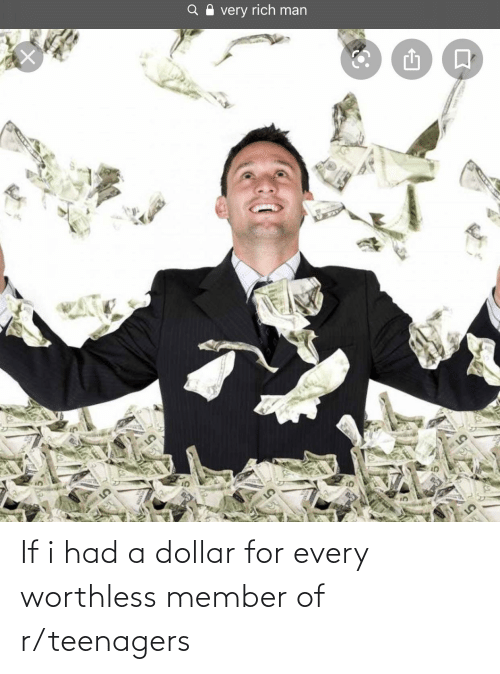 R Teenagers: If i had a dollar for every worthless member of r/teenagers