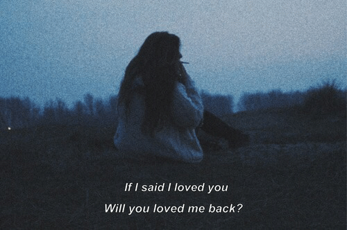 Back, Will, and You: If I said I loved you  Will you loved me back?