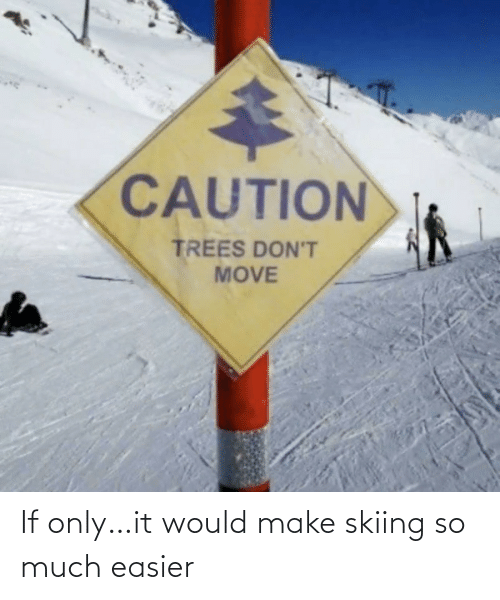 if only: If only…it would make skiing so much easier