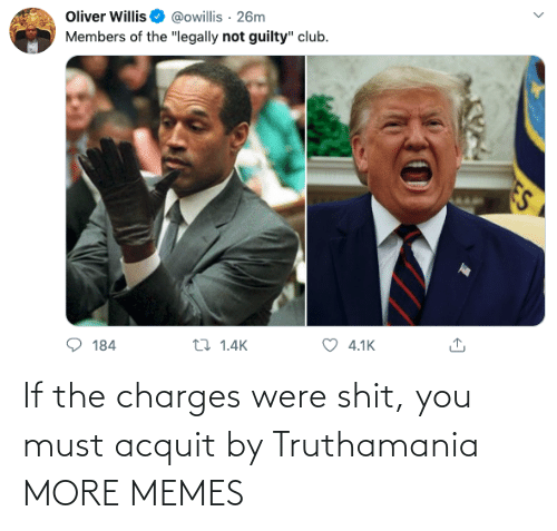 You Must: If the charges were shit, you must acquit by Truthamania MORE MEMES